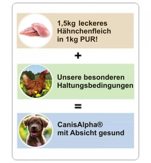 Besonderes Hühnchenfleisch, Vollwertreis, Menhaden-Hering, Obst, Topinambur & Kräuter Hundefutter