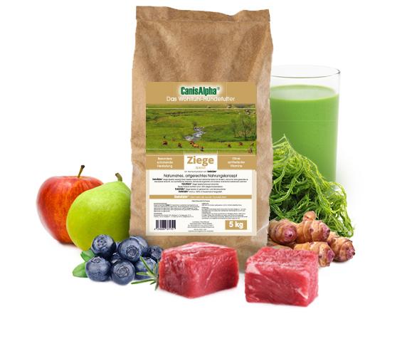 Leckeres Weideziegefleisch, extra ausgesuchtem Gemüse, kaltgepresstem Hanföl & besten Waldbeeren - ZIEGE SPEZIAL Hundefutter